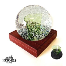 Boule à neige verre Hermès